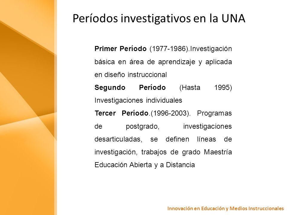 Períodos investigativos en la UNA