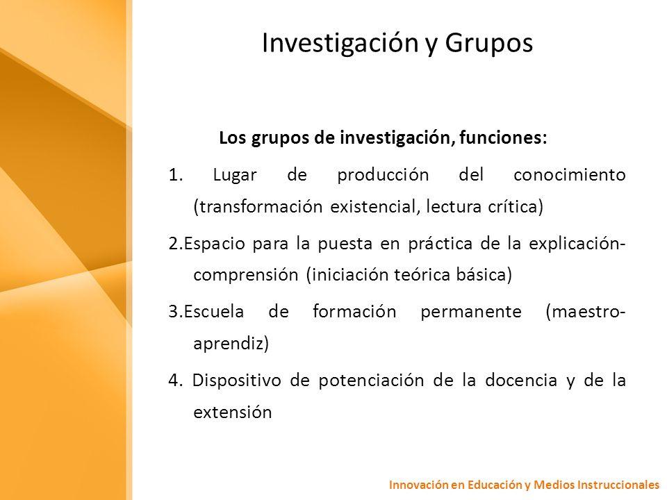 Investigación y Grupos