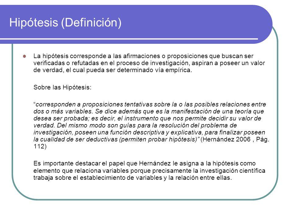 Hipótesis (Definición)