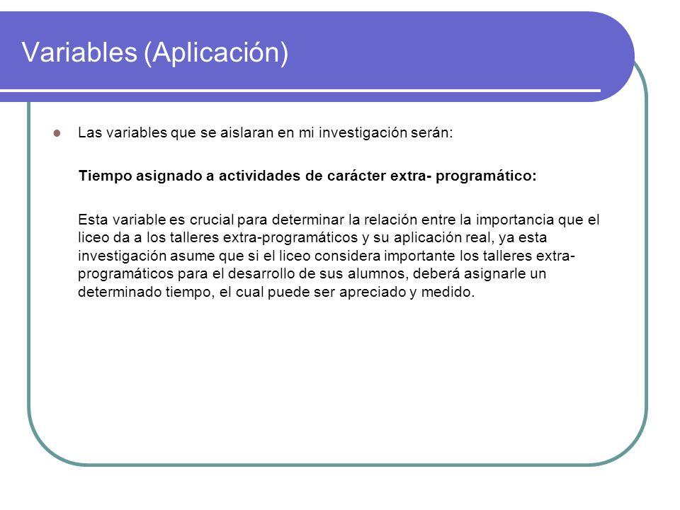 Variables (Aplicación)