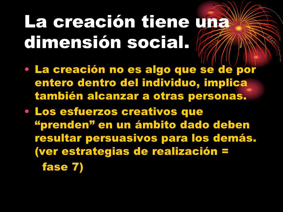 La creación tiene una dimensión social.