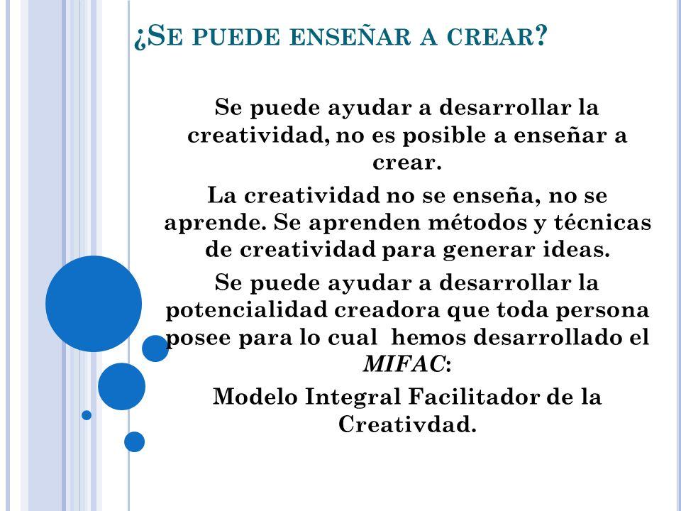 ¿Se puede enseñar a crear
