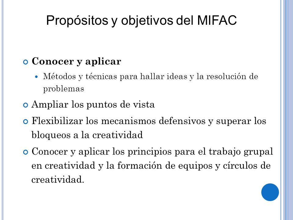Propósitos y objetivos del MIFAC
