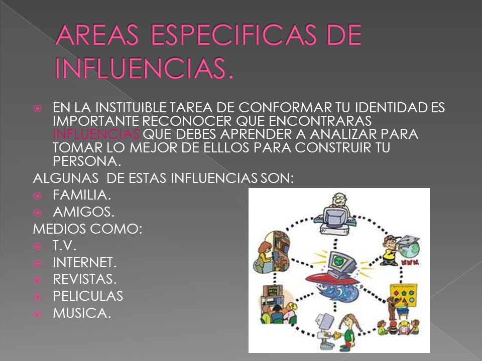 AREAS ESPECIFICAS DE INFLUENCIAS.