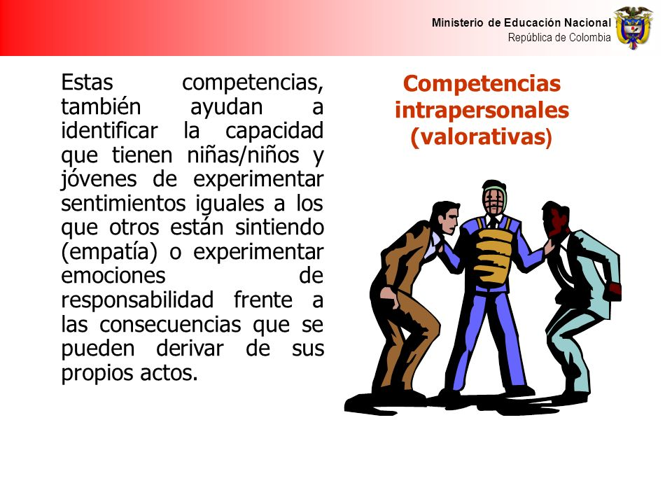 Competencias intrapersonales (valorativas)
