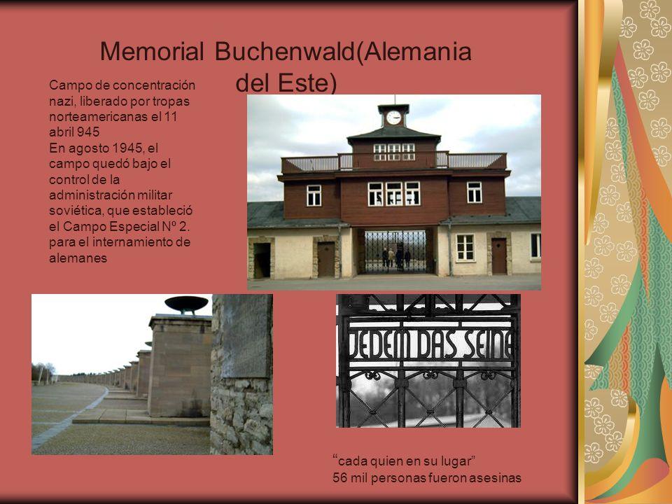 Memorial Buchenwald(Alemania del Este)