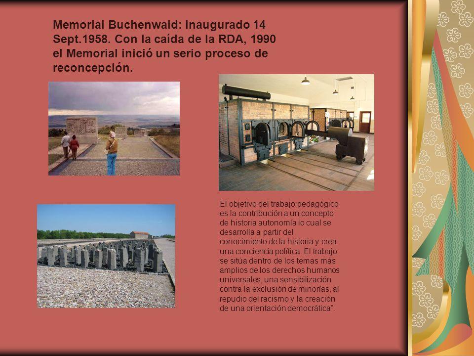 Memorial Buchenwald: Inaugurado 14 Sept. 1958