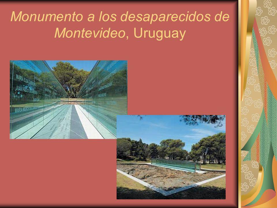 Monumento a los desaparecidos de Montevideo, Uruguay