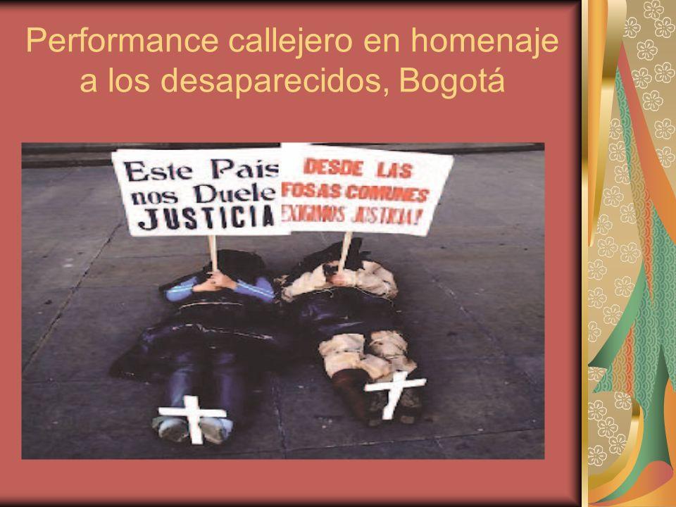 Performance callejero en homenaje a los desaparecidos, Bogotá