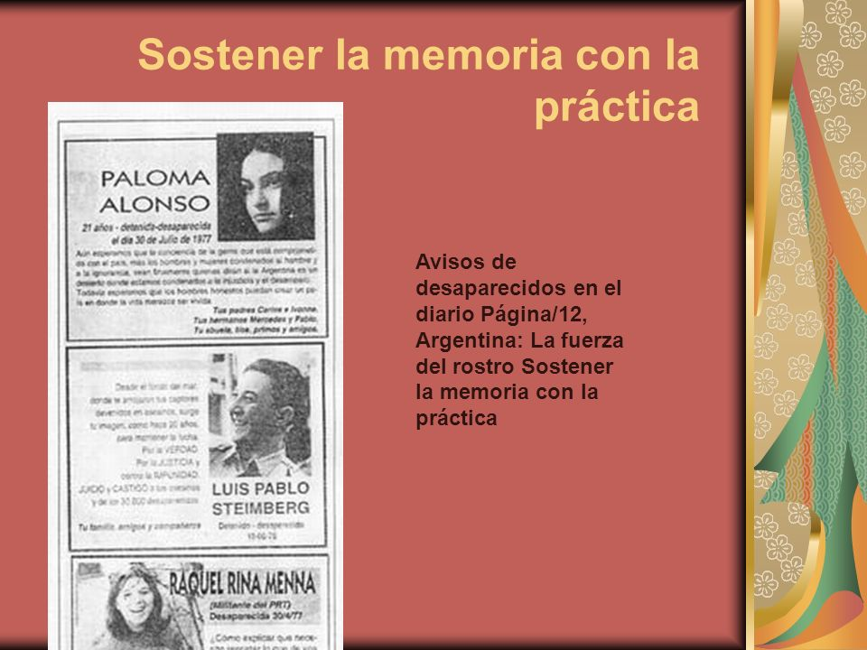 Sostener la memoria con la práctica