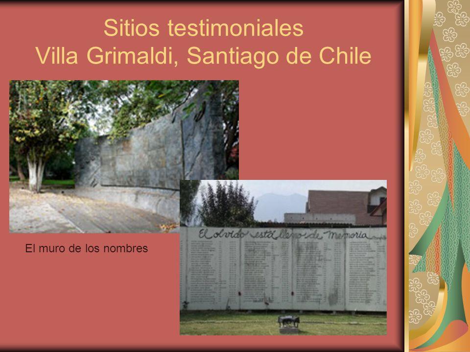 Sitios testimoniales Villa Grimaldi, Santiago de Chile
