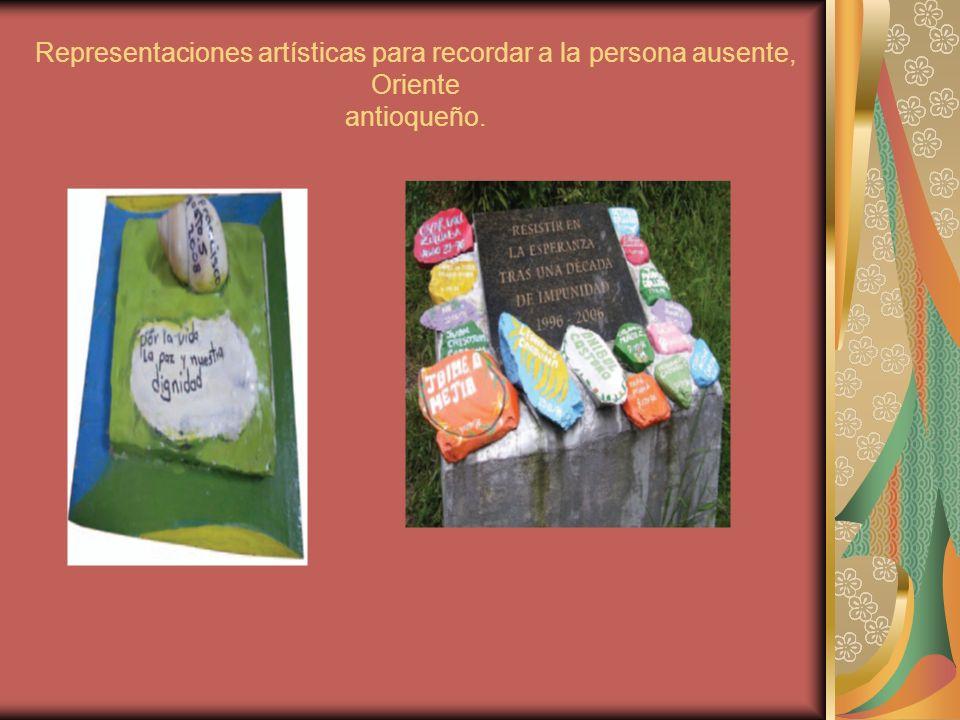 Representaciones artísticas para recordar a la persona ausente, Oriente antioqueño.