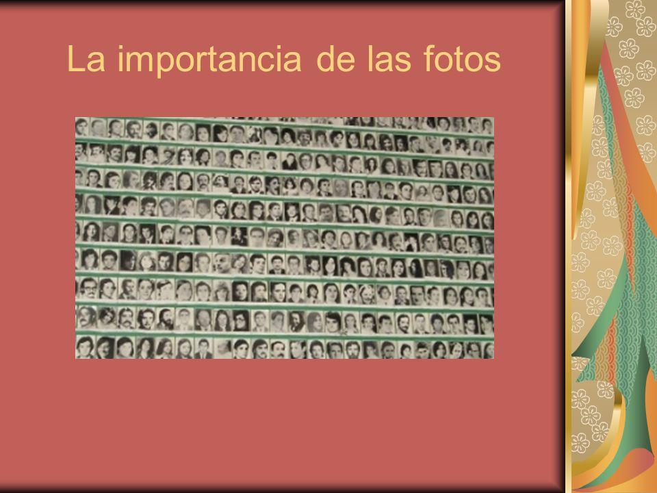 La importancia de las fotos