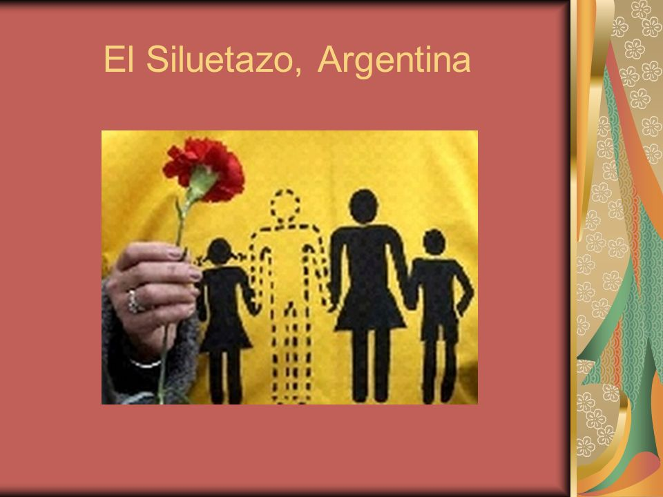 El Siluetazo, Argentina