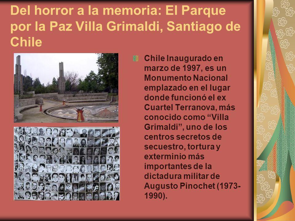 Del horror a la memoria: El Parque por la Paz Villa Grimaldi, Santiago de Chile