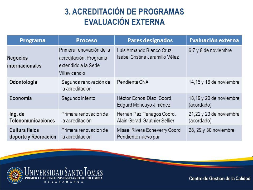 3. ACREDITACIÓN DE PROGRAMAS