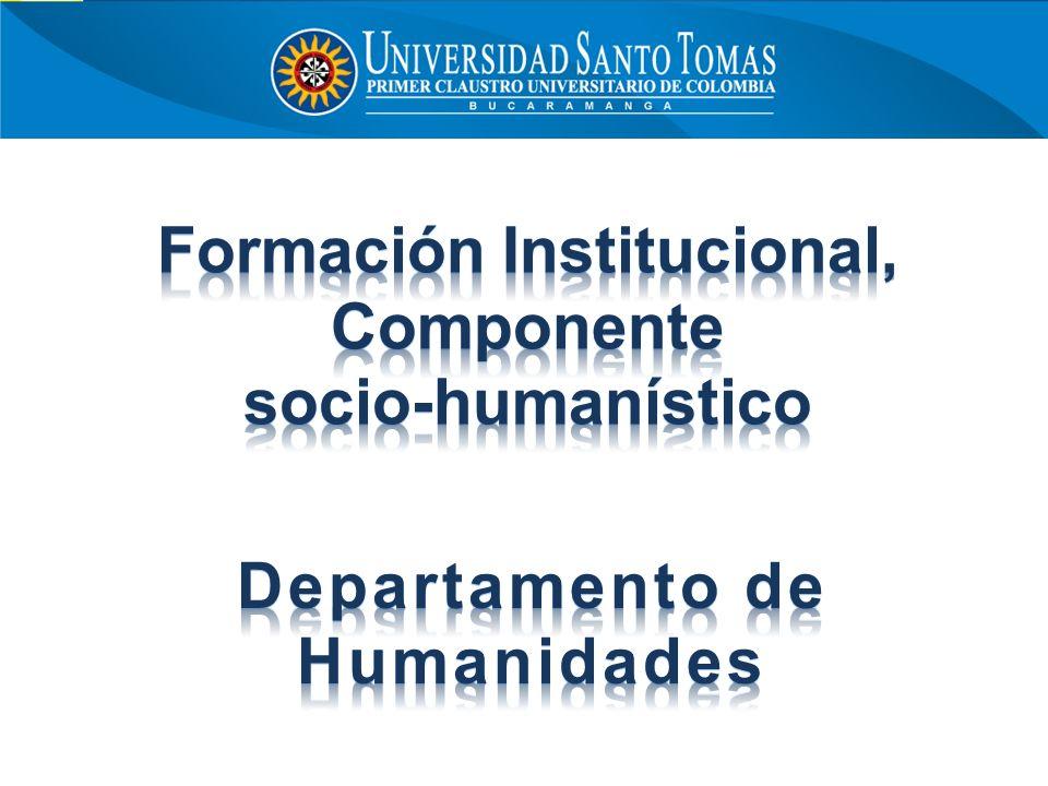 Formación Institucional, Departamento de Humanidades