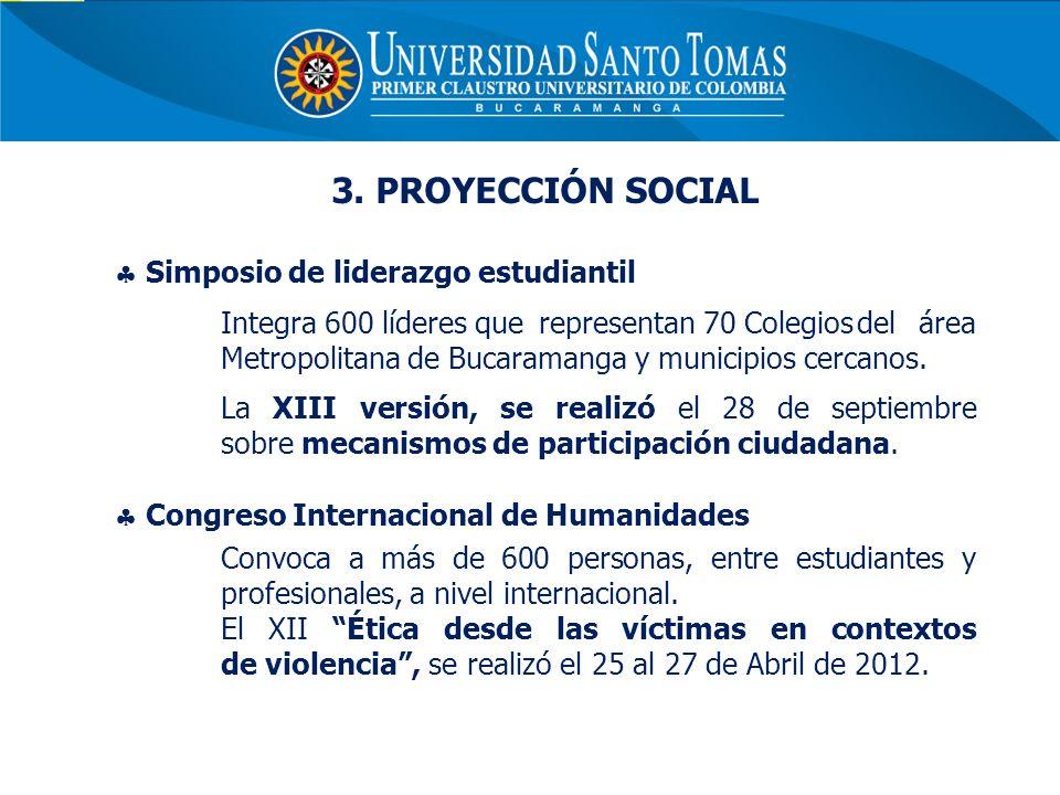 3. PROYECCIÓN SOCIAL Simposio de liderazgo estudiantil