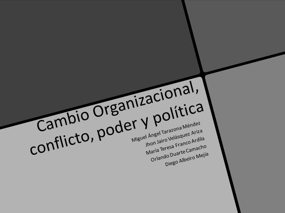 Cambio Organizacional, conflicto, poder y política