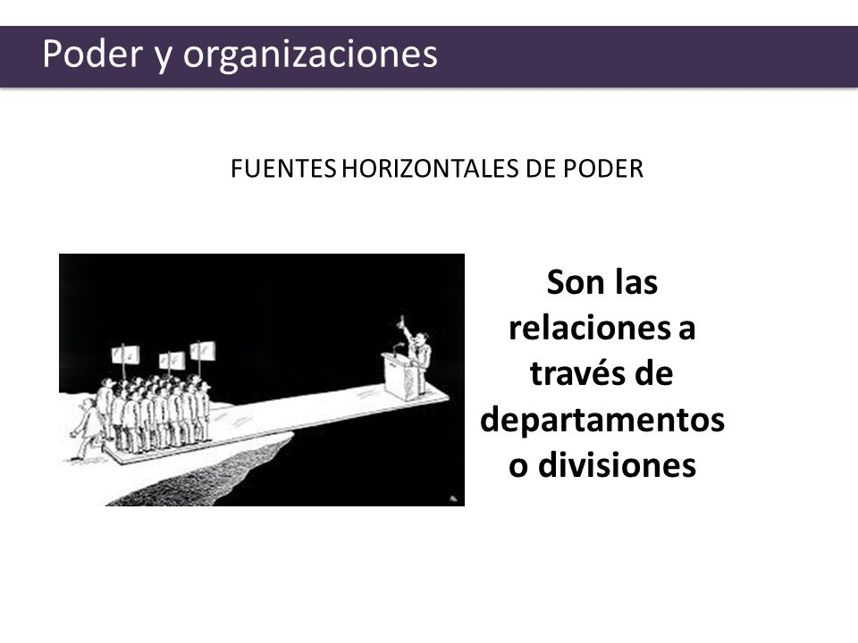 Son las relaciones a través de departamentos o divisiones