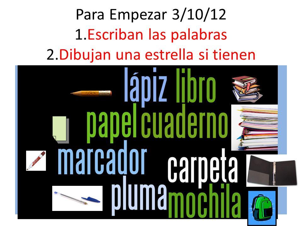 ¿Qué materiales necesitas para la clase de español Materiales