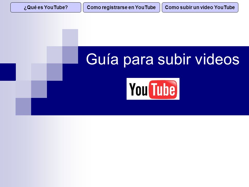 Como registrarse en YouTube Como subir un video YouTube