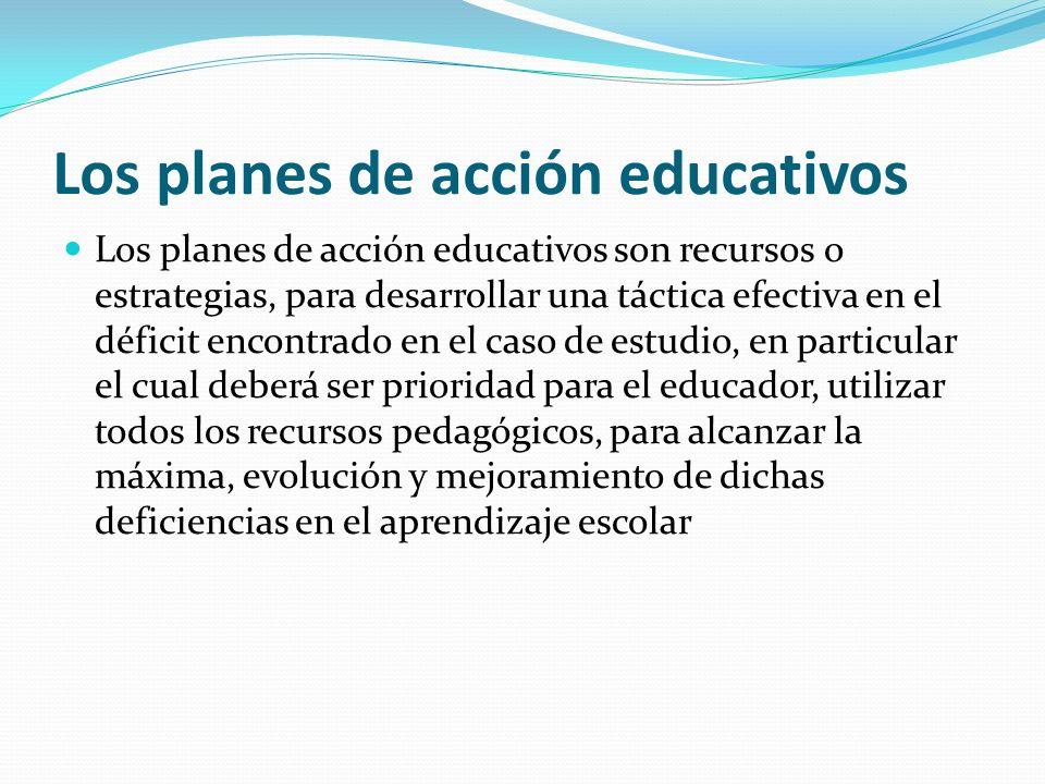 Los planes de acción educativos