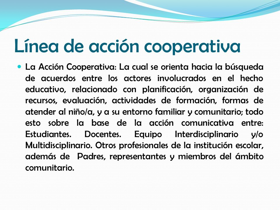Línea de acción cooperativa