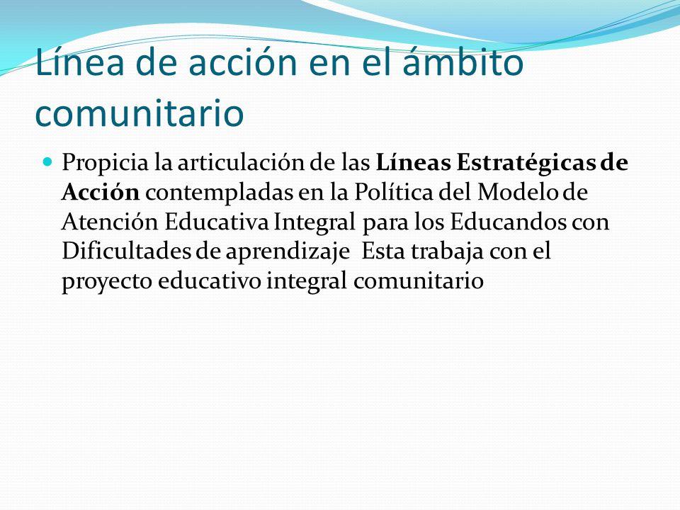 Línea de acción en el ámbito comunitario