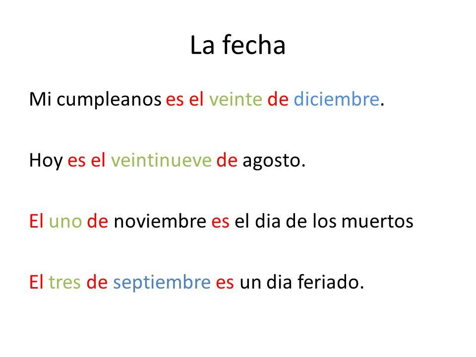 La fecha