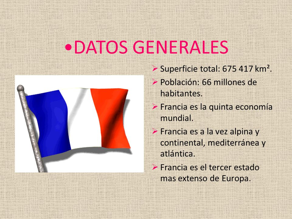 DATOS GENERALES Superficie total: 675 417 km².