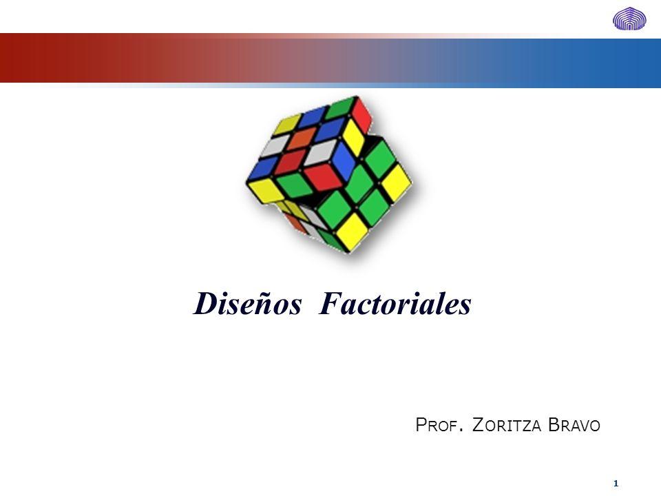 Diseños Factoriales Prof. Zoritza Bravo