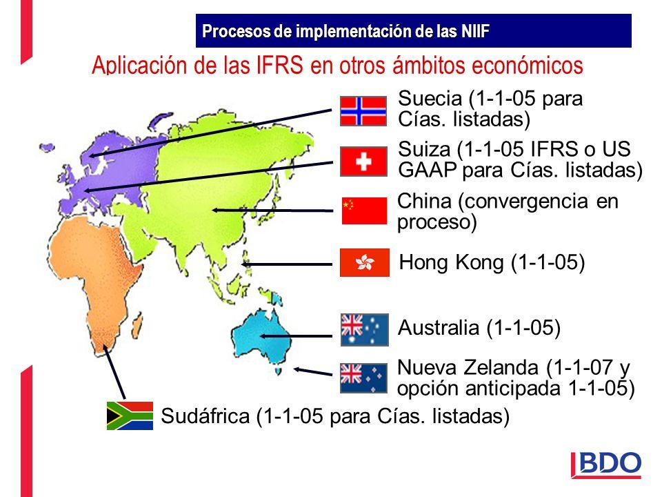 Aplicación de las IFRS en otros ámbitos económicos
