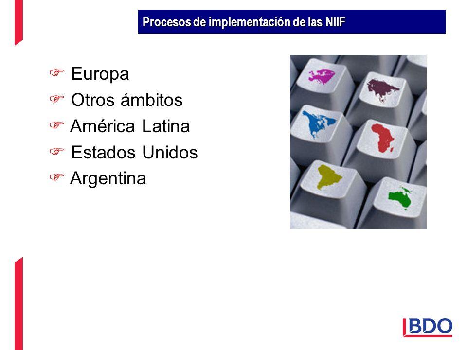Europa Otros ámbitos América Latina Estados Unidos Argentina