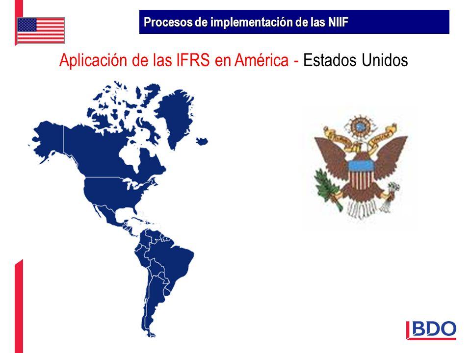 Aplicación de las IFRS en América - Estados Unidos