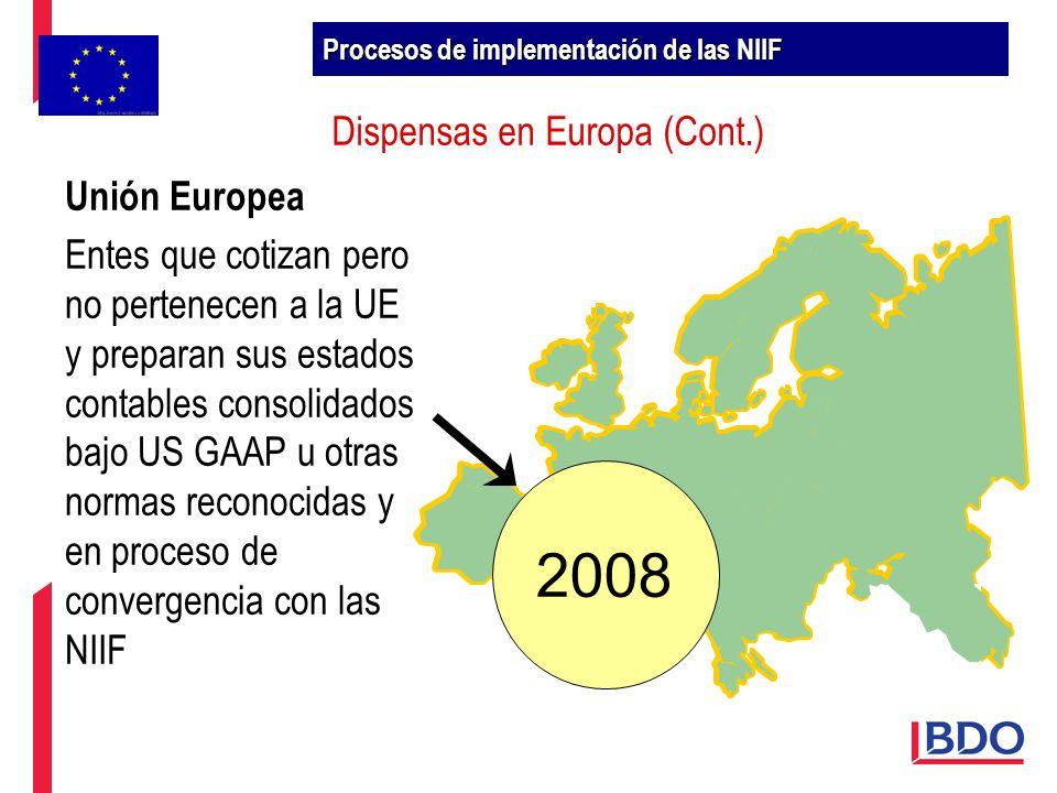 Dispensas en Europa (Cont.)