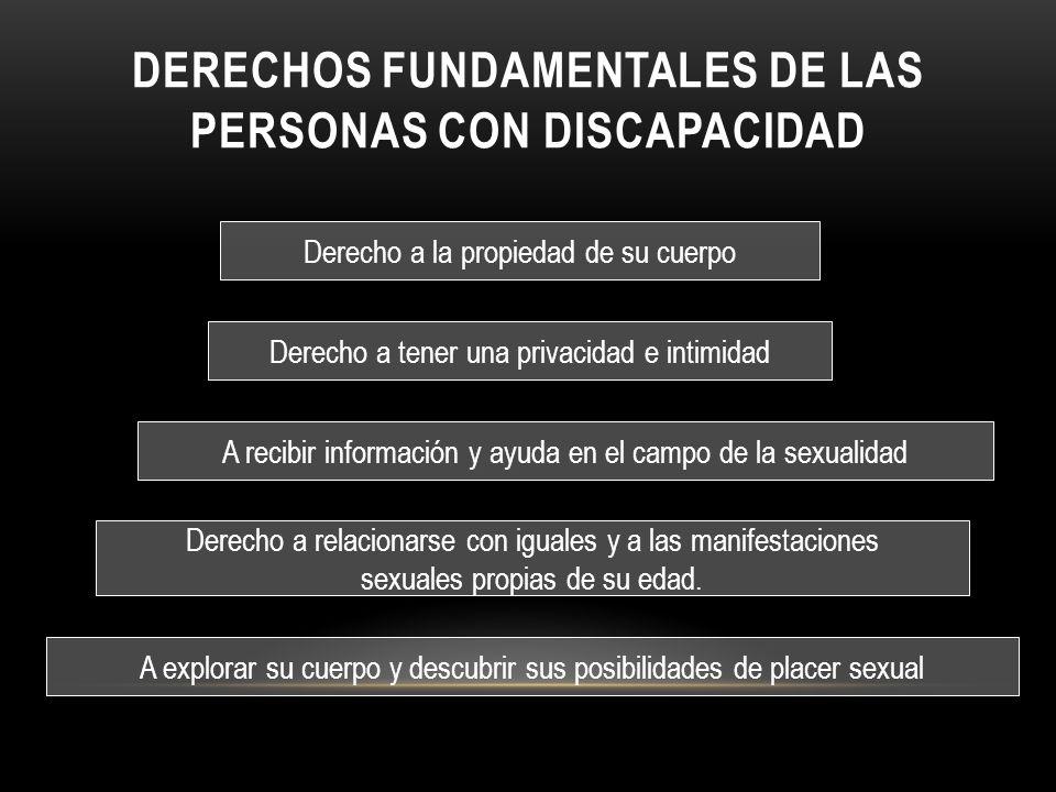 Derechos fundamentales de las personas con discapacidad