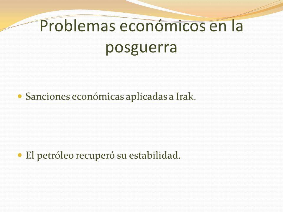 Problemas económicos en la posguerra