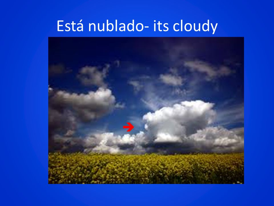 Está nublado- its cloudy