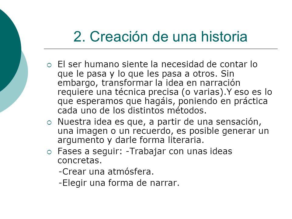 2. Creación de una historia