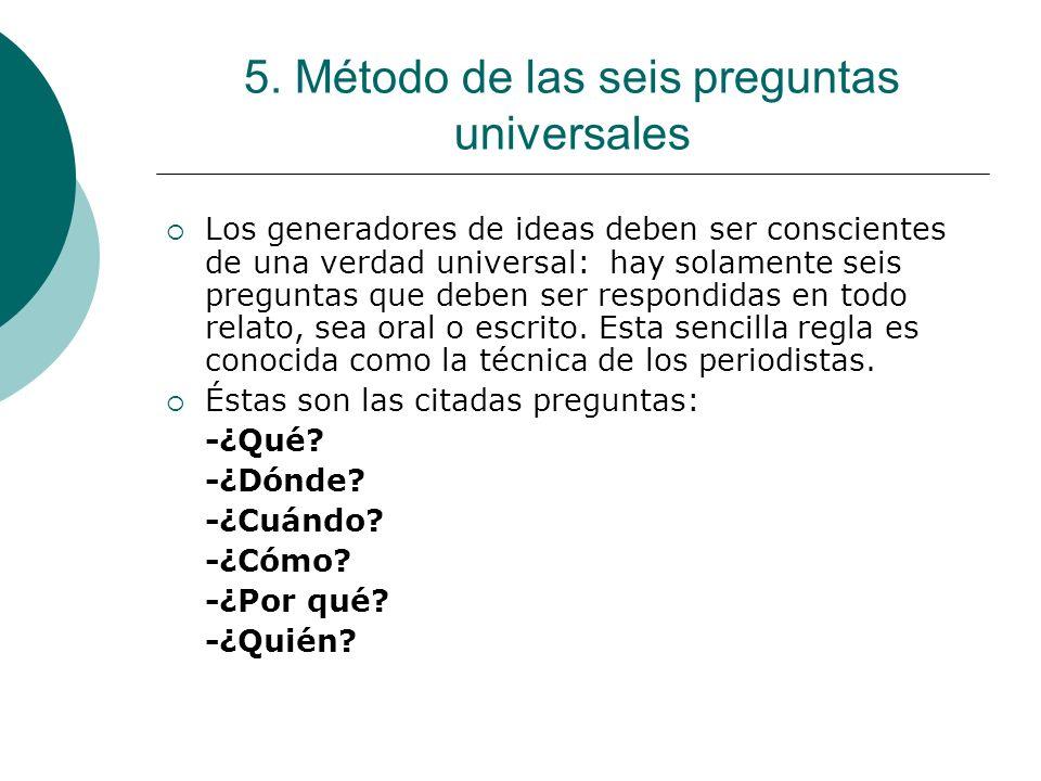 5. Método de las seis preguntas universales