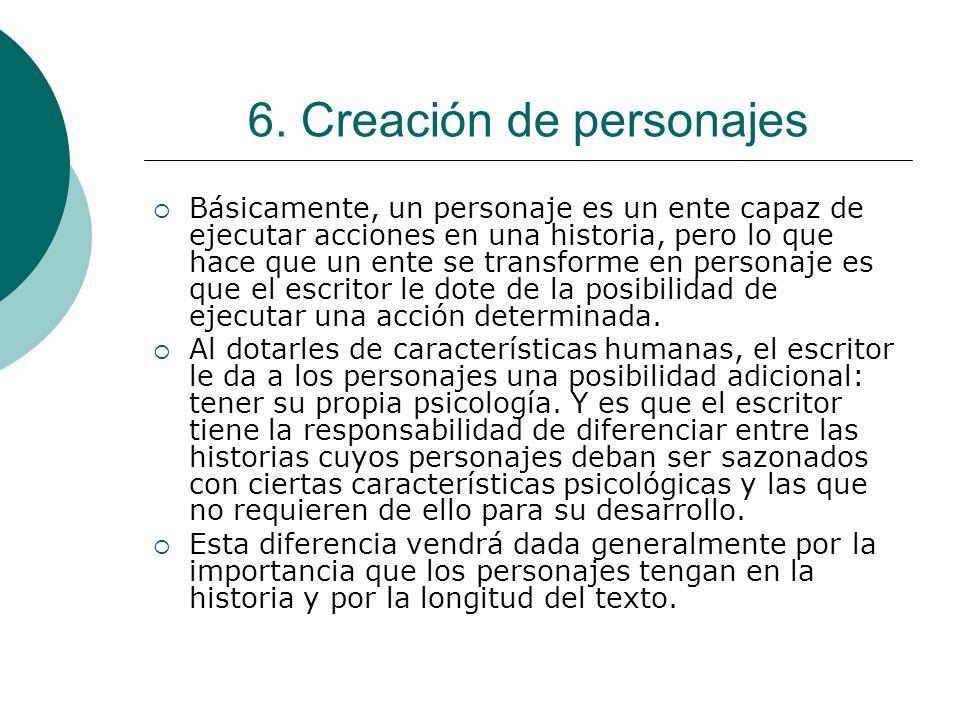 6. Creación de personajes