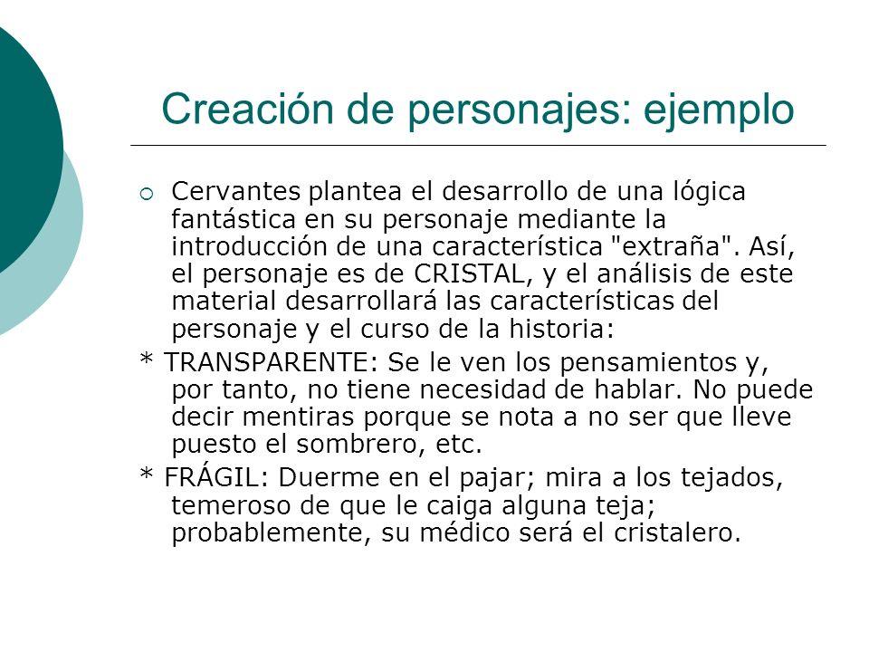 Creación de personajes: ejemplo