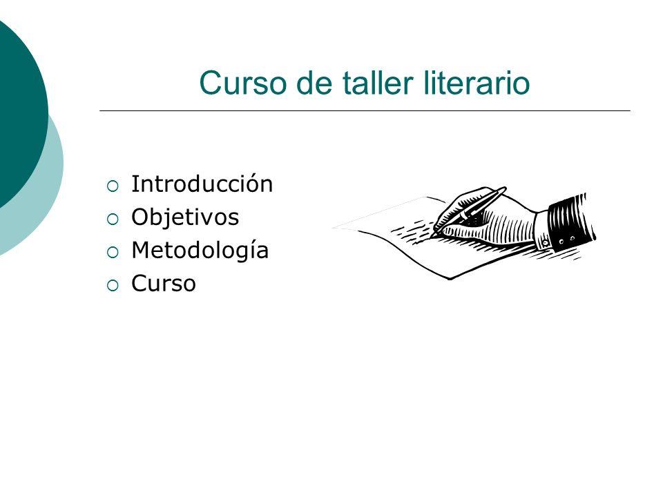 Curso de taller literario