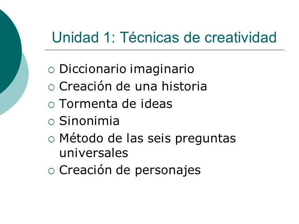 Unidad 1: Técnicas de creatividad