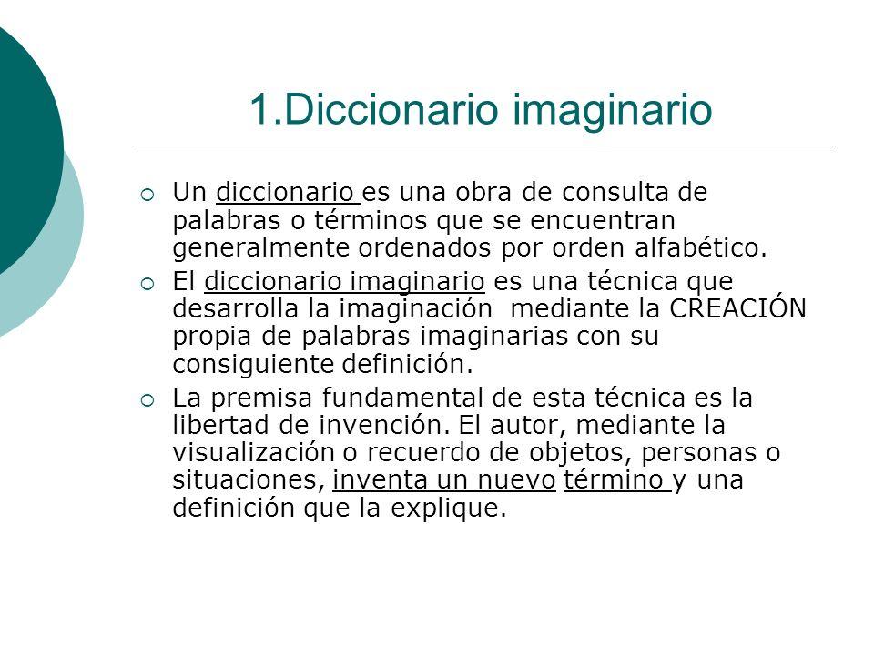1.Diccionario imaginario