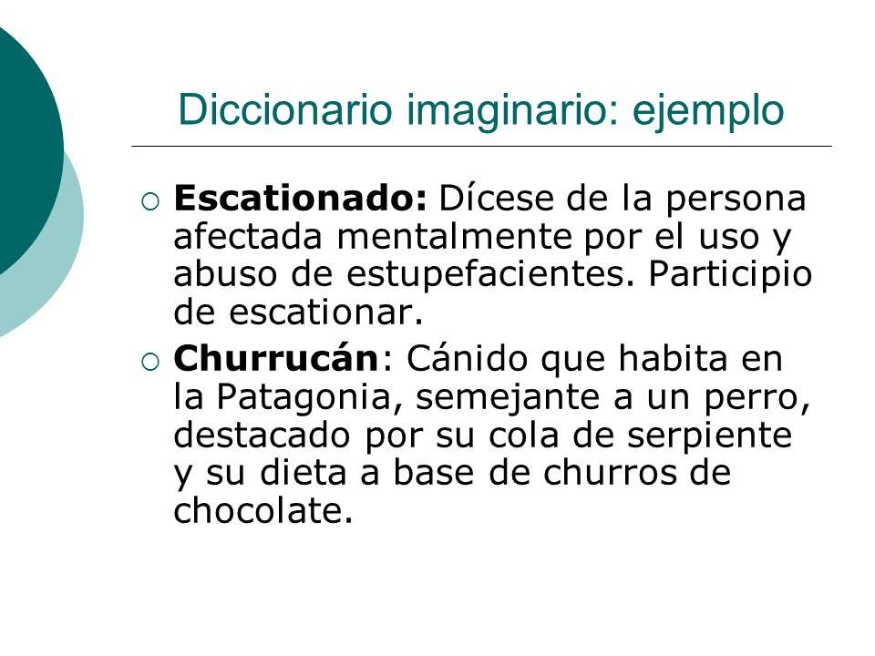 Diccionario imaginario: ejemplo