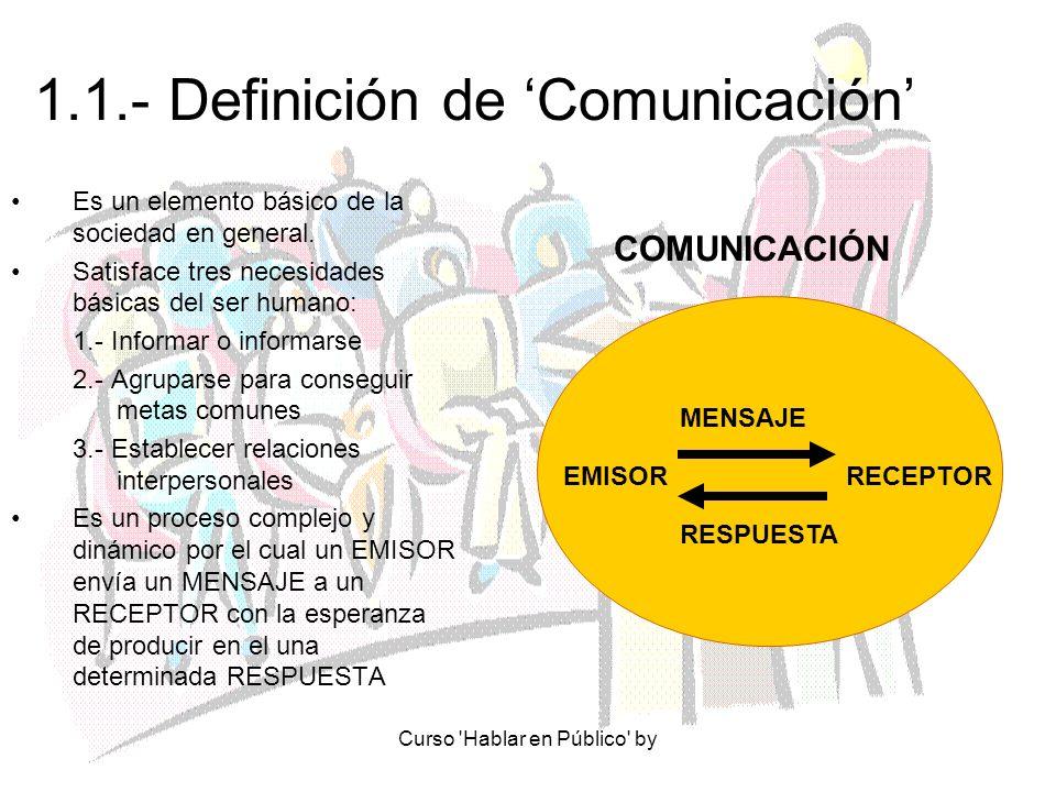 1.1.- Definición de 'Comunicación'