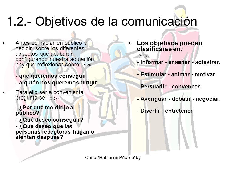 1.2.- Objetivos de la comunicación
