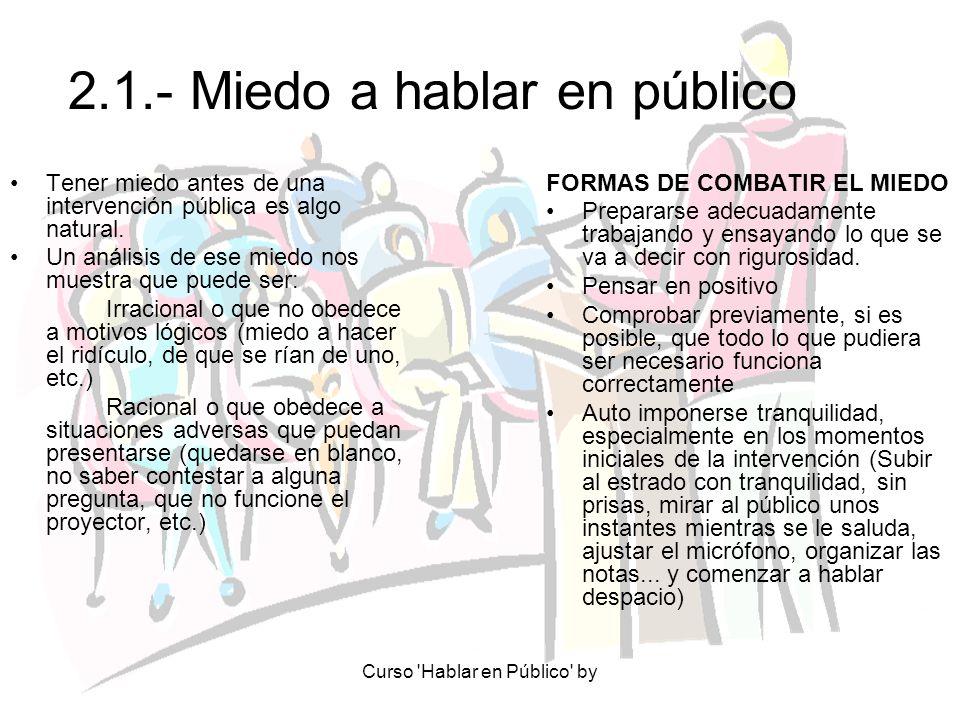 2.1.- Miedo a hablar en público